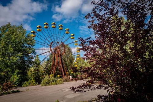 Ferris Wheel at Pripyat Fairground, Chernobyl Exclusion Zone, Ukraine